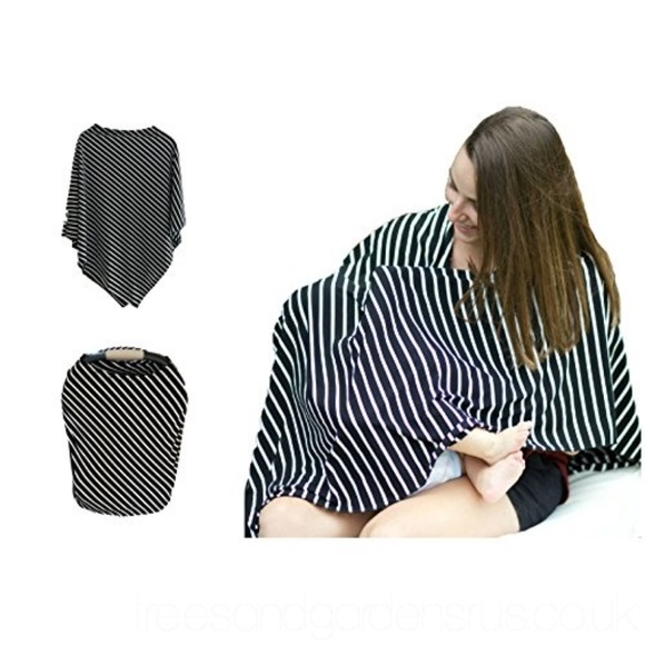 Modern Wrap Accessories - Modern Wrap Black and White Striped Nursing Cover